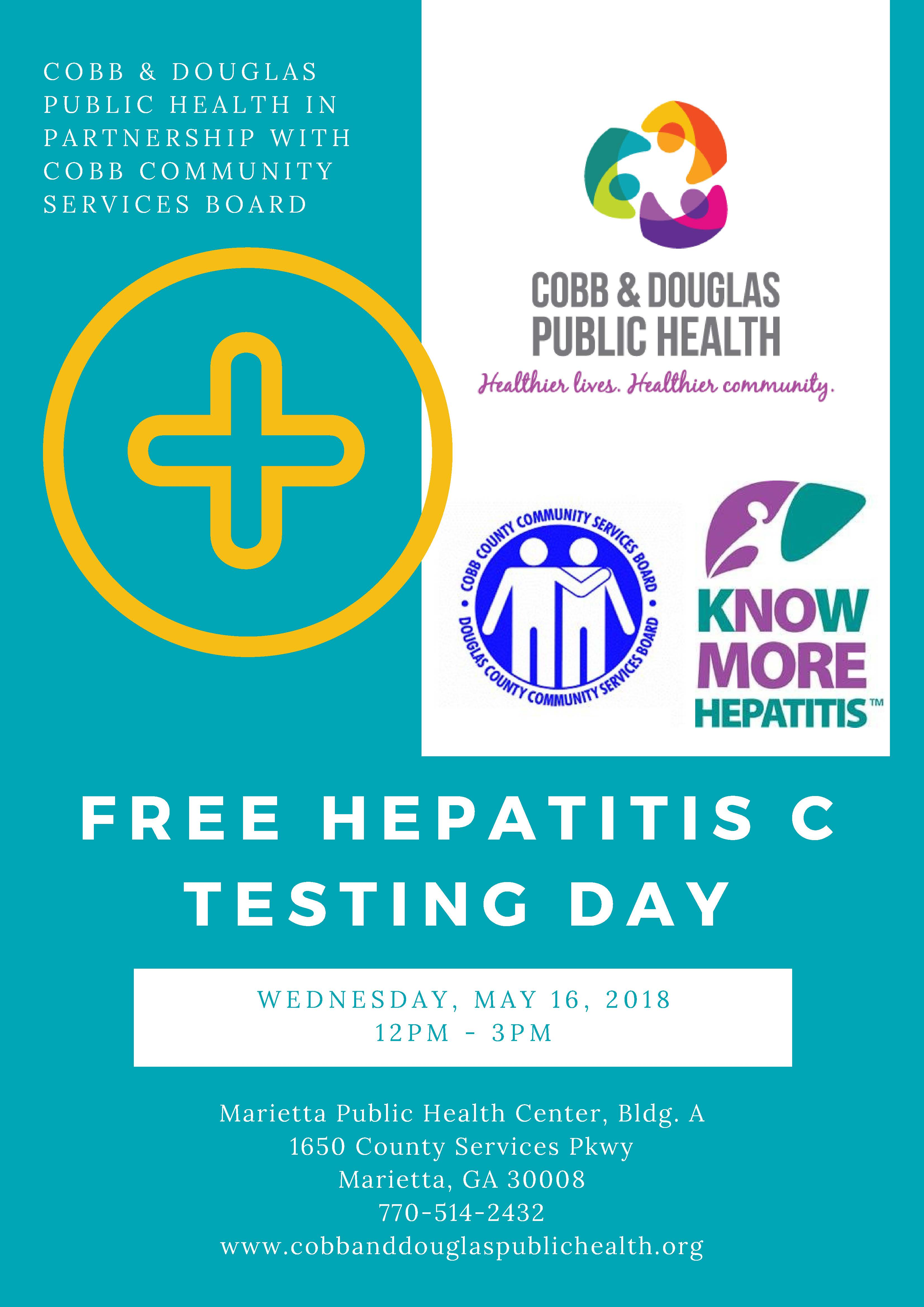 Cobb & Douglas Public Health Offers Free Rapid Hepatitis C ...