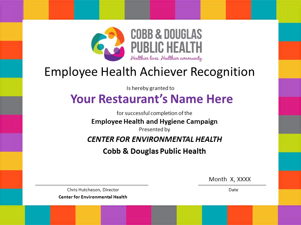 New Become An Employee Health Achiever Cobb Douglas Public Health